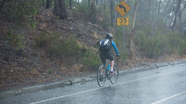 The wet commute on Friday.