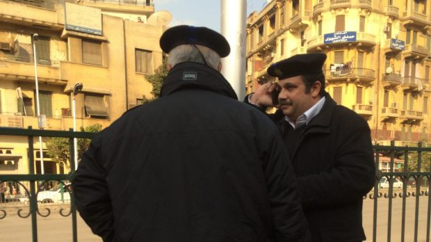 There is a marked security presence in Cairo ahead of the fifth anniversary of the 2011 revolution.