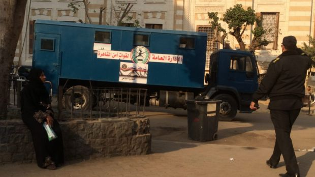 Central security forces patrolling downtown Cairo last week.