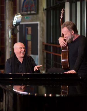 Peter Gabriel and Sting first shared stages in 1986.