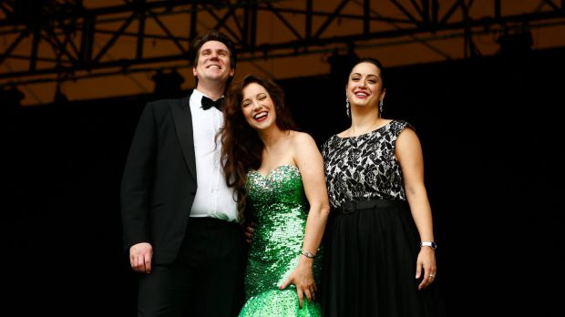 Soprano Lorina Gore will perform with fellow opera singers Natalie Aroyan and Luke Gabbedy at Opera in the Domain come ...