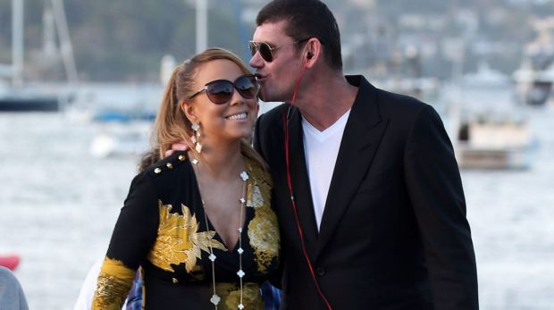 Engaged: Mariah Carey and James Packer.
