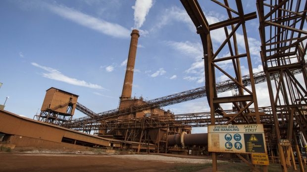 Clive Palmer's nickel refinery outside  Townsville.