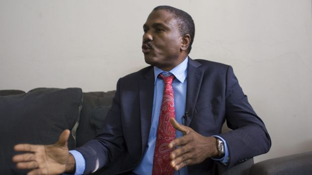 Jude Celestin, the LAPEH party presidential candidate, in his office in Port-au-Prince, Haiti, last week.
