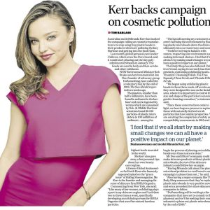 Miranda Kerr backs the campaign against microbeads in December 2014.