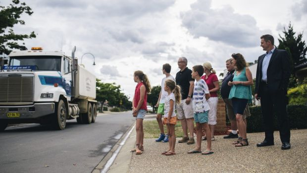 Residents of Strayleaf Cresent in Gungahlin are unhappy about water trucks using the street continuously.