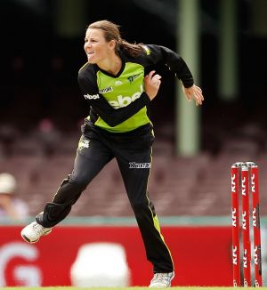 Flying the flag: Sydney Thunder all-rounder Erin Osborne is one of five ACT Meteors players in Sunday's WBBL final at ...