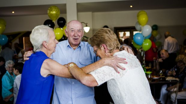 Queanbeyan's Bobby Griffin Bobby Griffin dancing with his sisters Gwenda (left), and Robin.