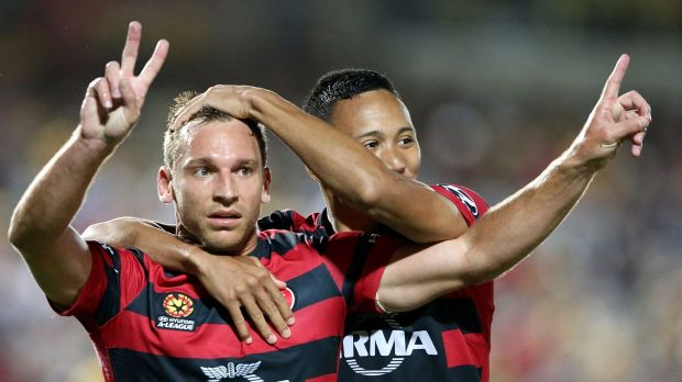 Match-winner: Brendon Santalab grabbed the decisive late goal.
