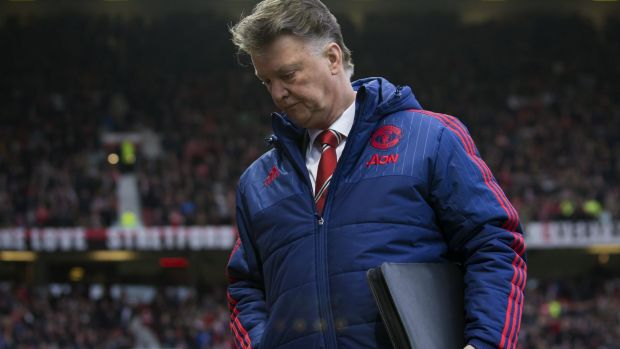 Feeling the strain: United's home defeat to Southampton turned up the heat on manager Louis van Gaal.