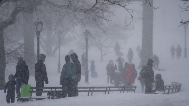 A snow-filled Central Park in New York during last month's snowstorm.