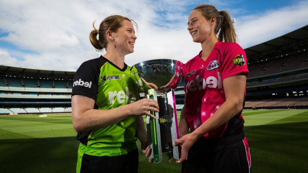 Mate against mate: Sydney Thunder captain Alex Blackwell and Sixers counterpart Ellyse Perry lead their teams into ...