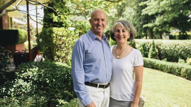 Craig Orme and his wife Theresa at home in Yarralumla.