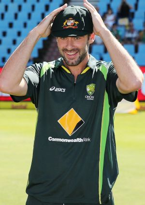 Top of the order: Alex Doolan receives his Baggy Green before making his Test debut against South Africa in February ...