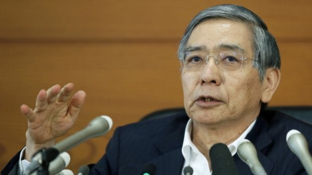 "Haruhiko Kuroda ha vowed to do ""whatever it takes"" to meet his inflation target."