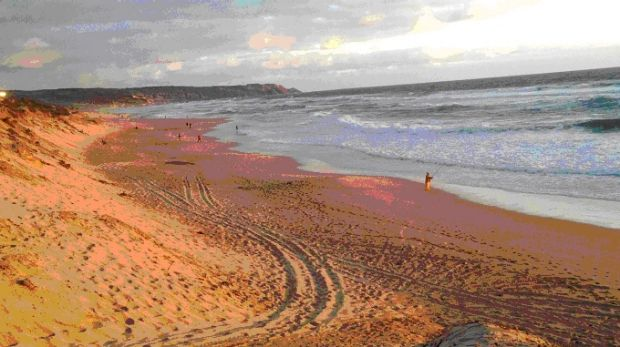 """Surf Life Saving Australia describes Gunnamatta beach as """"extremely hazardous"""" due to its high waves and strong rips."""