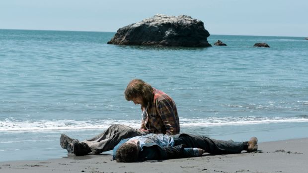 What a gas ... Paul Dano contemplates his new best mate (Daniel Radcliffe).