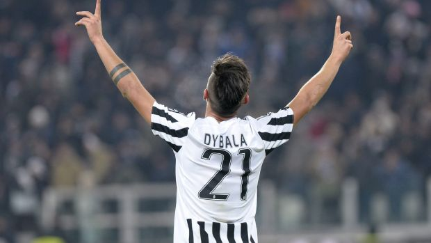 Juventus' Paulo Dybala was on target for Juve.