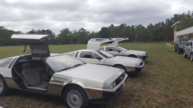 The vehicles are believed to be a part of filming for Blue World Order.