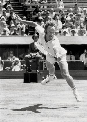 Rod Laver in action in 1973.