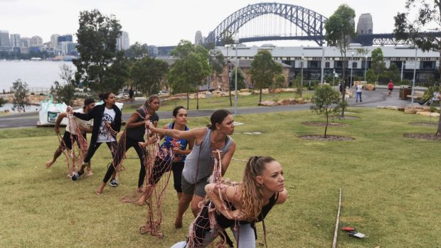 The dancers will perform moments before Jessica Mauboy sings the national anthem from the top of the Harbour Bridge.