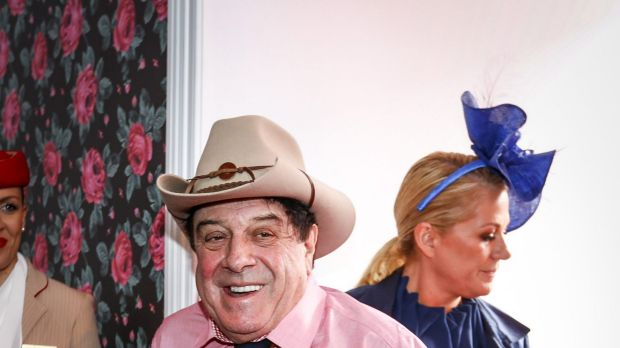 Molly Meldrum at the Melbourne Cup in November.