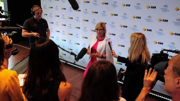 Rosie Batty, giving her final interviews before delivering a final speech, as Australian of the Year.