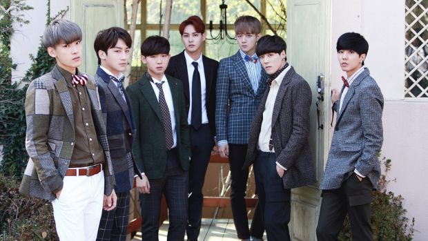 Jackie Chan's boy band JJCC: (from left) Yul, Prince Mak, Zica, Eddy, SanCheong, SimBa and E.co.