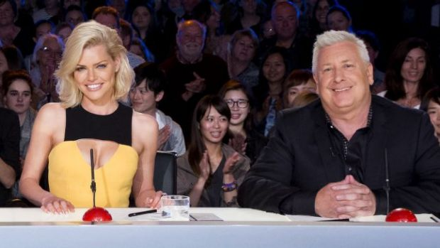 "Australia's Got Talent judges Sophie Monk and Ian ""Dicko"" Dickson."