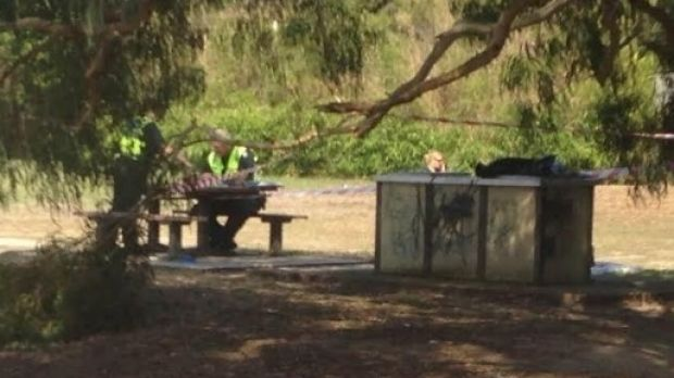 The picnic area where a decapitated kangaroo was found on a barbecue.