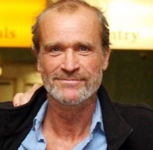 Henry Worsley at an airport in England in 2012.