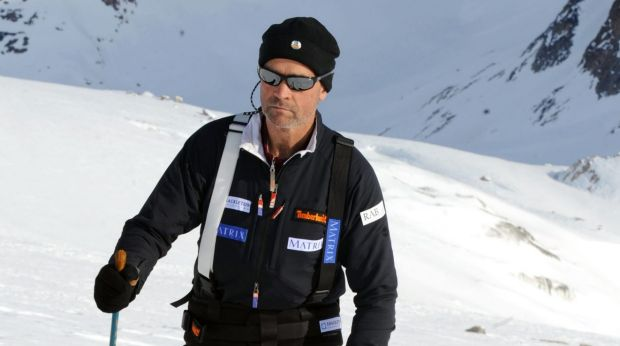 Former army officer Henry Worsley on the Korridoren glacier in Milne Land, Greenland in 2008.