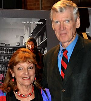 Kristin and David Williamson at the opening night of How To Kill Your Husband in 2011.
