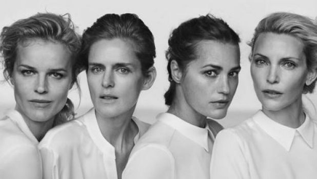 Unveiling of the Giorgio Armani New Normal campaign featuring Eva Herzigova, Yasmin Le Bon, Stella Tennant and Nadja ...