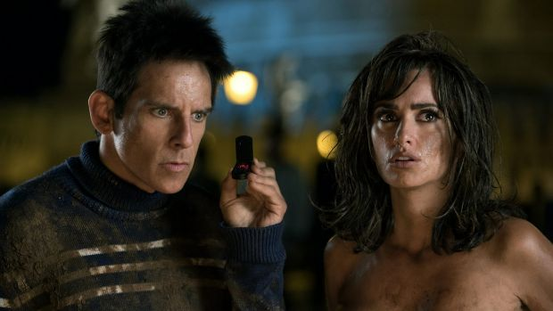 Ben Stiller as Derek Zoolander and Penelope Cruz as Valentina Valencia in <i>Zoolander 2.</i>
