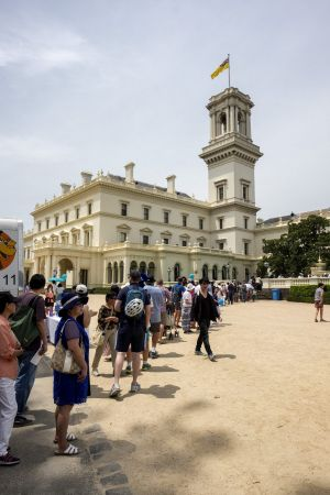 The day-long queue to inspect Government House.