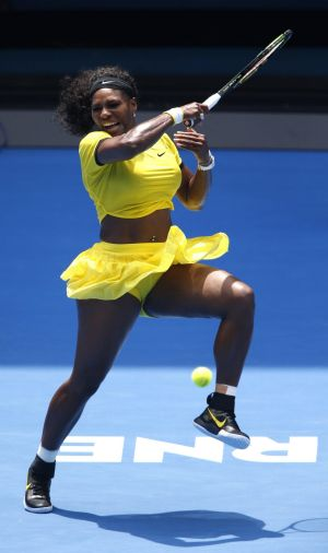 Serena Williams: Dancing into another semi-final.