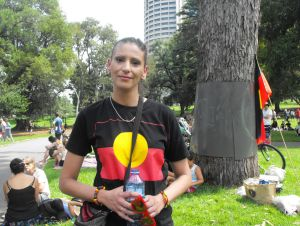 Jody Beeton was at the Share the Spirit festival at Treasury Gardens. She said Australia Day was about the survival of ...