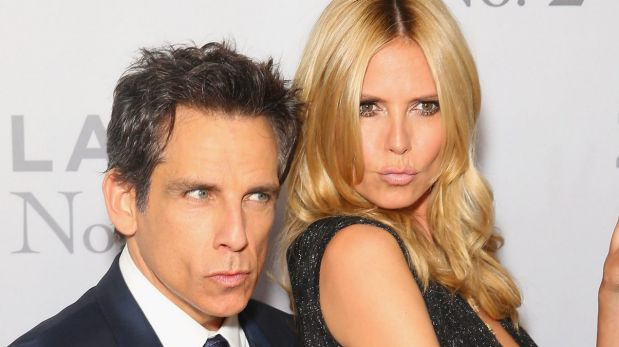 Ben Stiller and Heidi Klum at the Sydney screening of Zoolander No. 2 at the State Theatre on Australia Day.