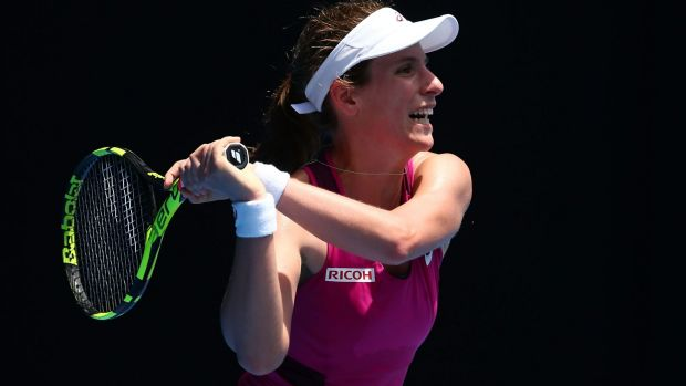Johanna Konta defeated Venus Williams in the first round.