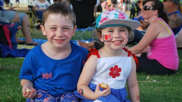 Australia Day 2016: Langley Park entertainment zone at Perth foreshore.