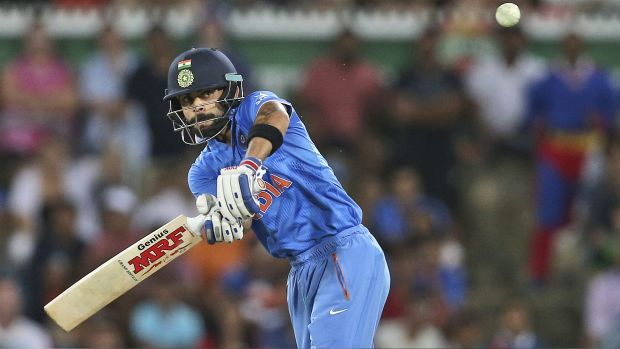 Among the world's best batsmen: India's Virat Kohli.