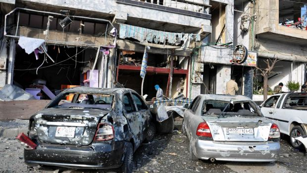 Twin bombs exploded at a security checkpoint in Zahraa in Homs province, Syria, last Tuesday.