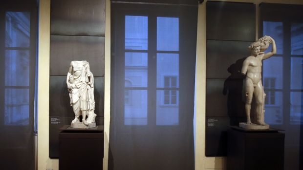 "A kind of "" classics coverup "" is causing a political flap in Italy, after ancient nude statues in a museum were hidden ..."