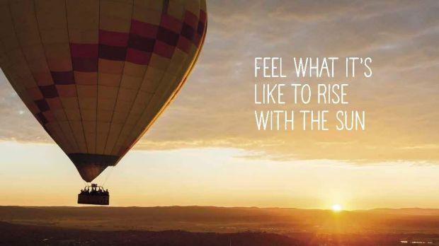 An early morning hot air balloon ride over Lake Burley Griffin is another activity being spruiked in the new Tourism ...