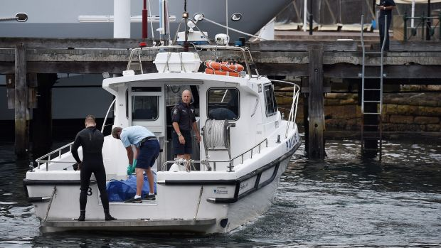A person called triple zero just before 7am after spotting a body in the water near Campbell's Cove Jetty.