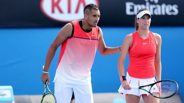Nick Kyrgios with girlfriend Ajla Tomljanovic.