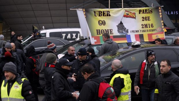 Around the world, Uber has taken on the heavily regulated taxi industry, sparking protests from cab drivers worldwide.