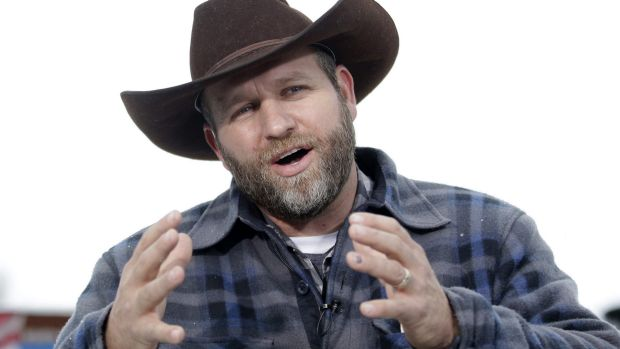 Ammon Bundy gives an interview at Malheur National Wildlife Refuge during the takeover.
