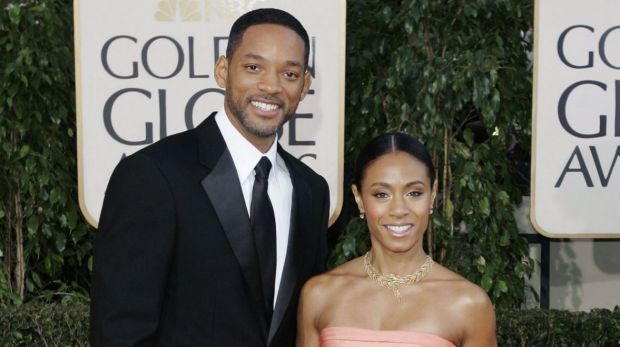 Will Smith and Jada Pinkett Smith at the Golden Globe Awards in 2007.